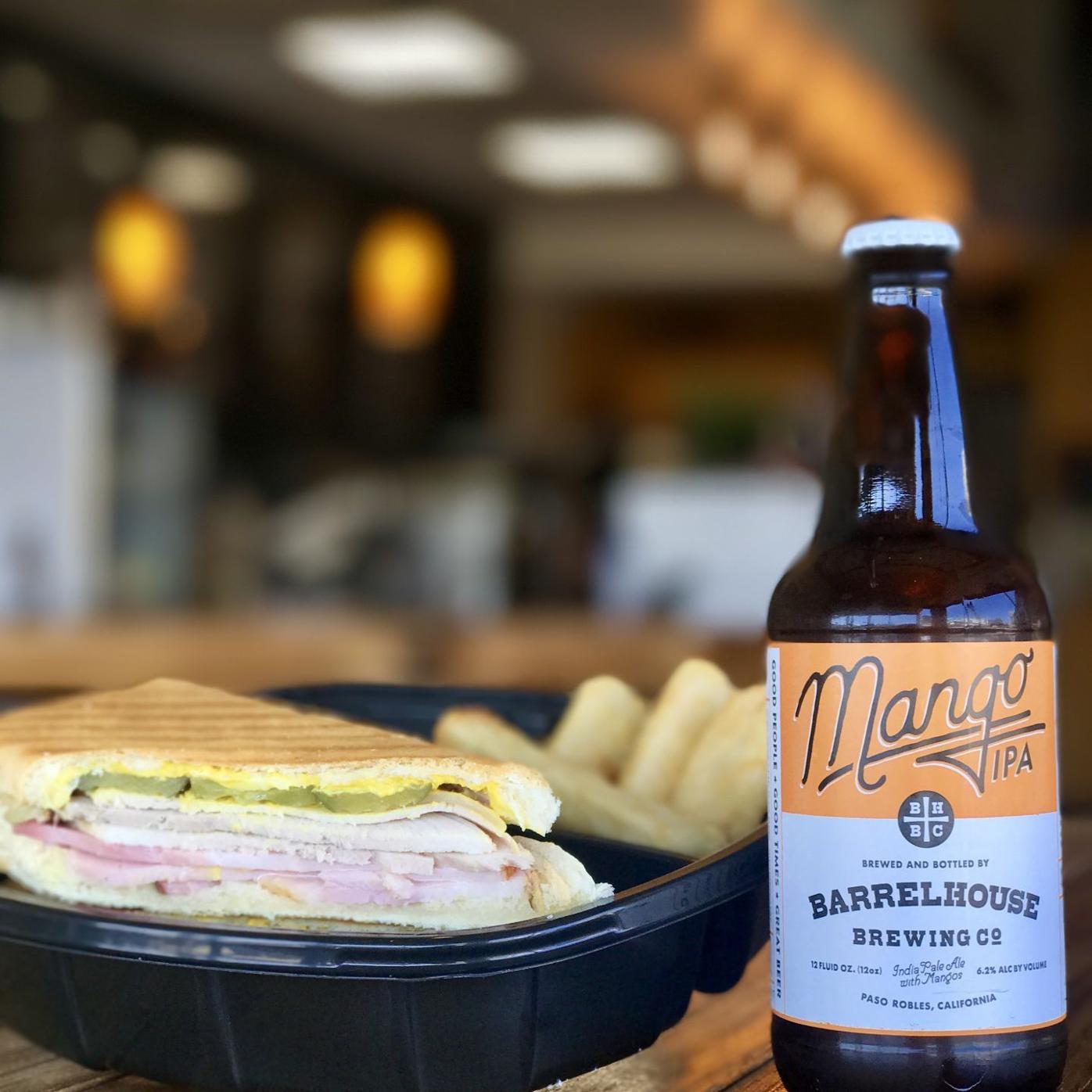 Cubano Sandwich with local Barrelhouse Brewing Mango IPA