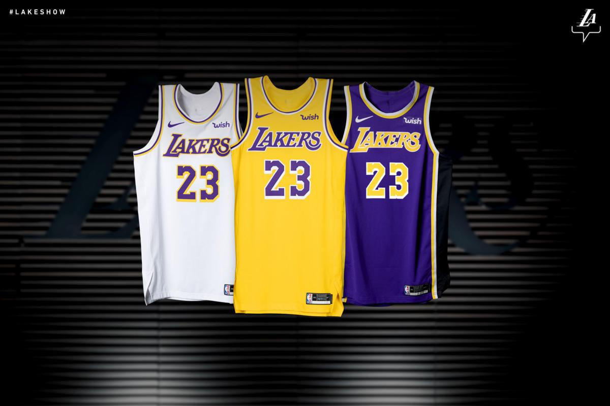 reputable site d48ce d1017 Los Angeles Lakers unveil new jersey design   Local ...