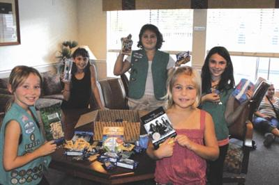 Girl Scouts send packages  to 'adopted' military personnel