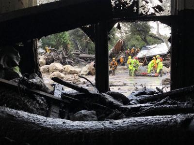 Homes suffered heavy damage in 1/9 Debris Flow