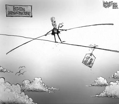 Editorial Cartoon: Balancing Act