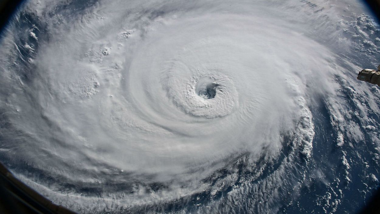 NOAA satellite image of Hurricane Florence before it made landfall in North Carolina in 2018.png