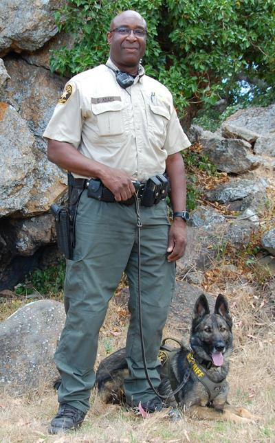 Deputy Cedric Adams and Corvin