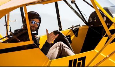 Pilot Eric Tucker refines his comedic aerobatics for this year's Airfest