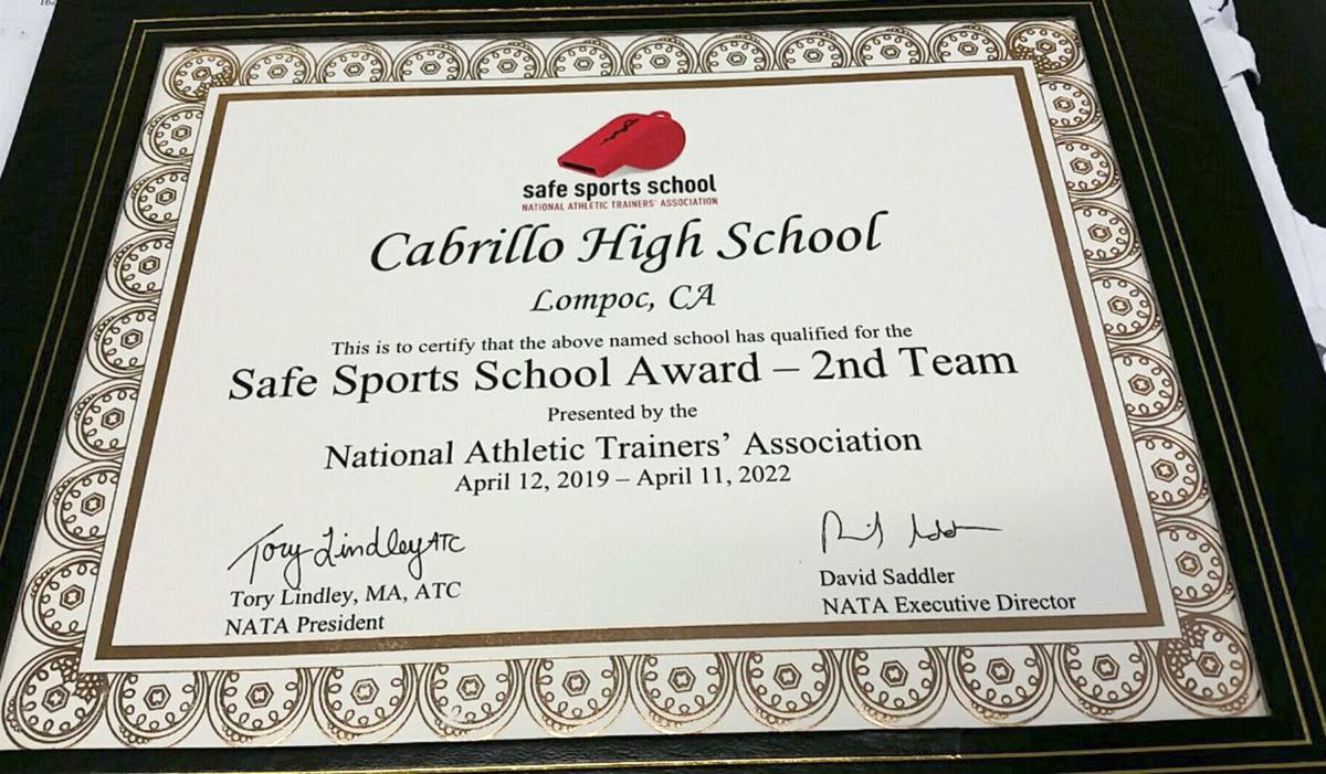National Athletic Trainer's Association award