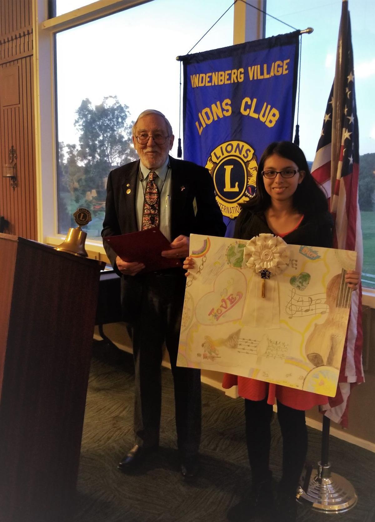 Sethli Montes wins VV Lions Club poster competition
