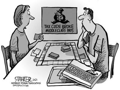 Editorial Cartoon: Broke