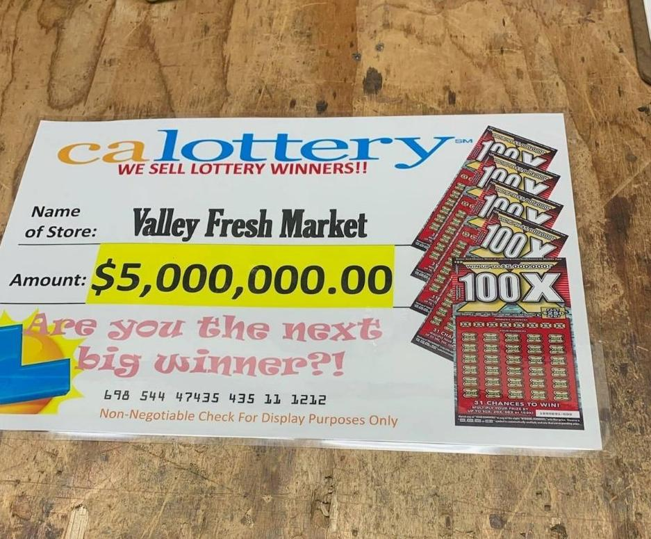 Valley Fresh Market Solvang Lottery