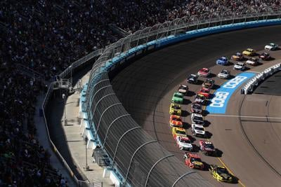 Brad Keselowski, driver of the #2 Alliance Parts Ford, leads the pack during the NASCAR Cup Series FanShield 500 at Phoenix Raceway on March 8, 2020 in Avondale, Ariz. On Monday NASCAR announced its postponing more races through May 3.