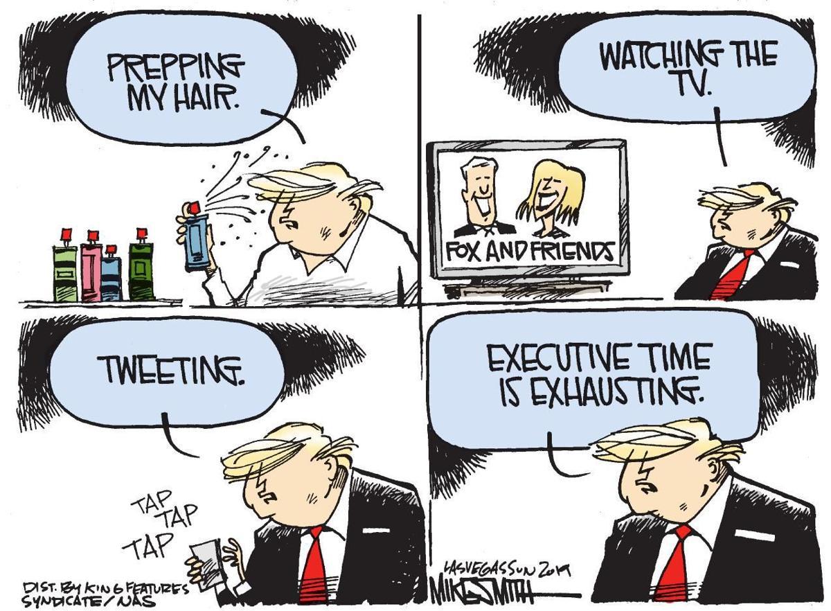 Cartoon: Trump's executive time
