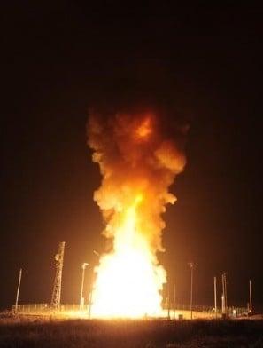 Minuteman 3 blasts off