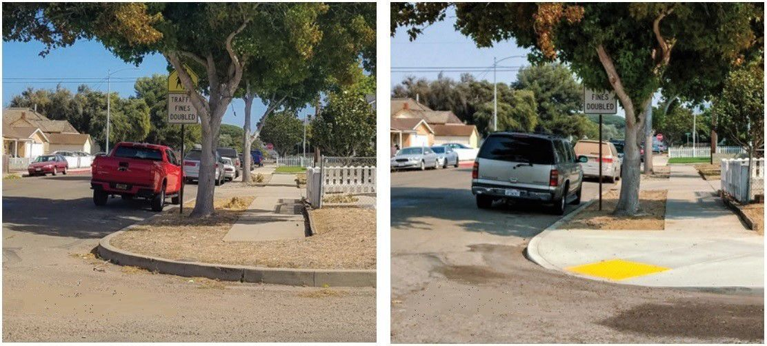 Lompoc Safe Routes to School project-altered before, after