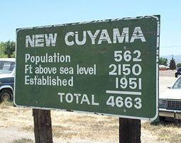 New Cuyama stock image