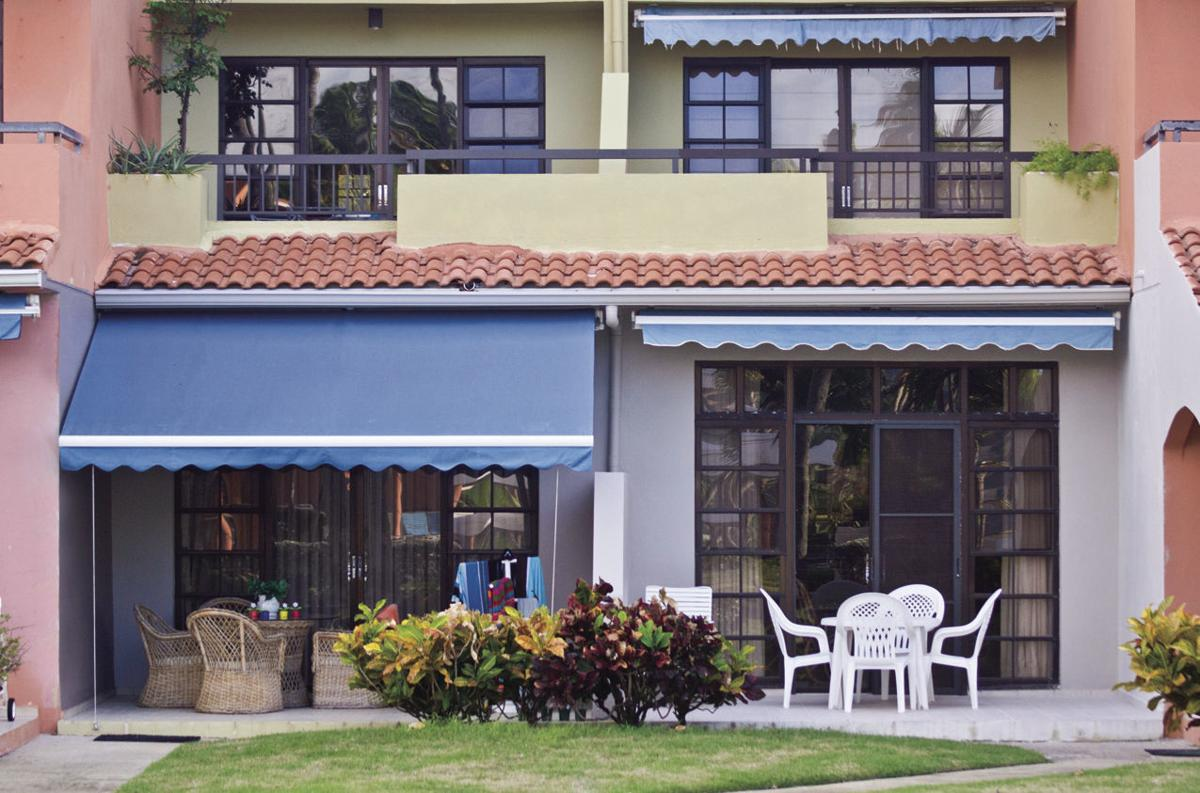 Awnings can make outdoor spaces more comfortable