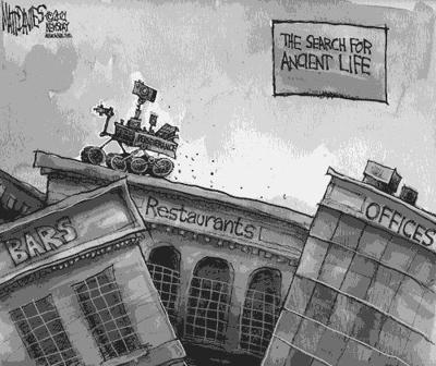 Editorial Cartoon: Ancient life