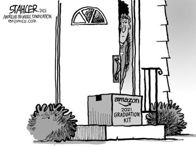 Editorial Cartoon: Amazon graduation
