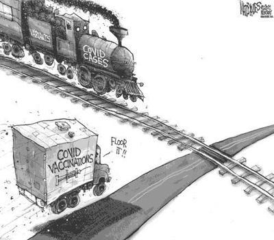 Editorial Cartoon: Head on