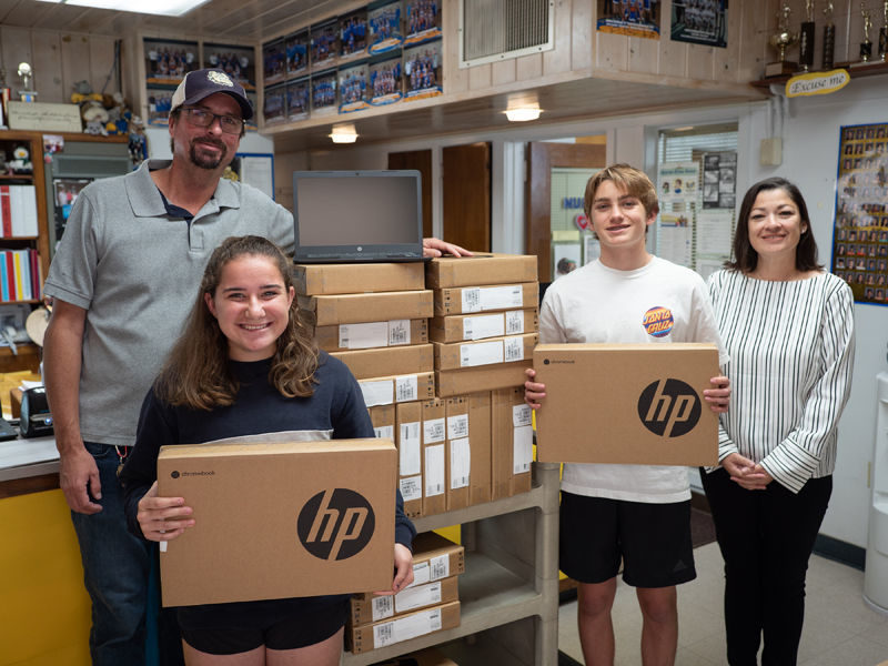 Chumash deliver Chromebooks to Jonata 2
