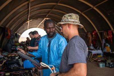 A bazaar day at Nigerien Air Base 201