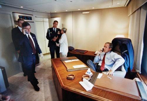 Vandenberg officer at Bush's side during attacks