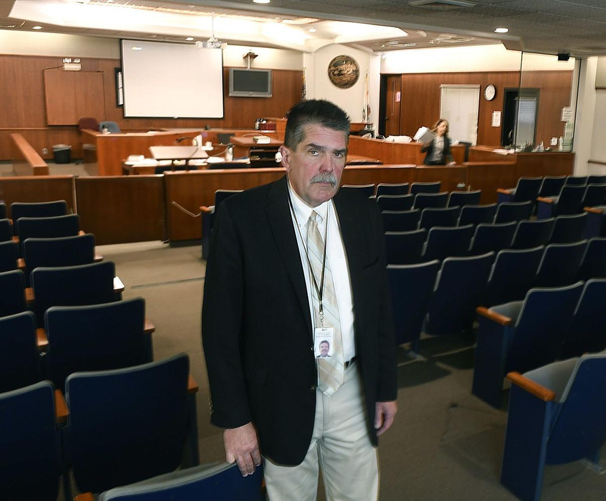 Darrel Parker in Santa Maria courtroom