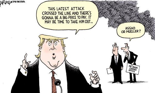 Cartoon: Assad or Mueller?