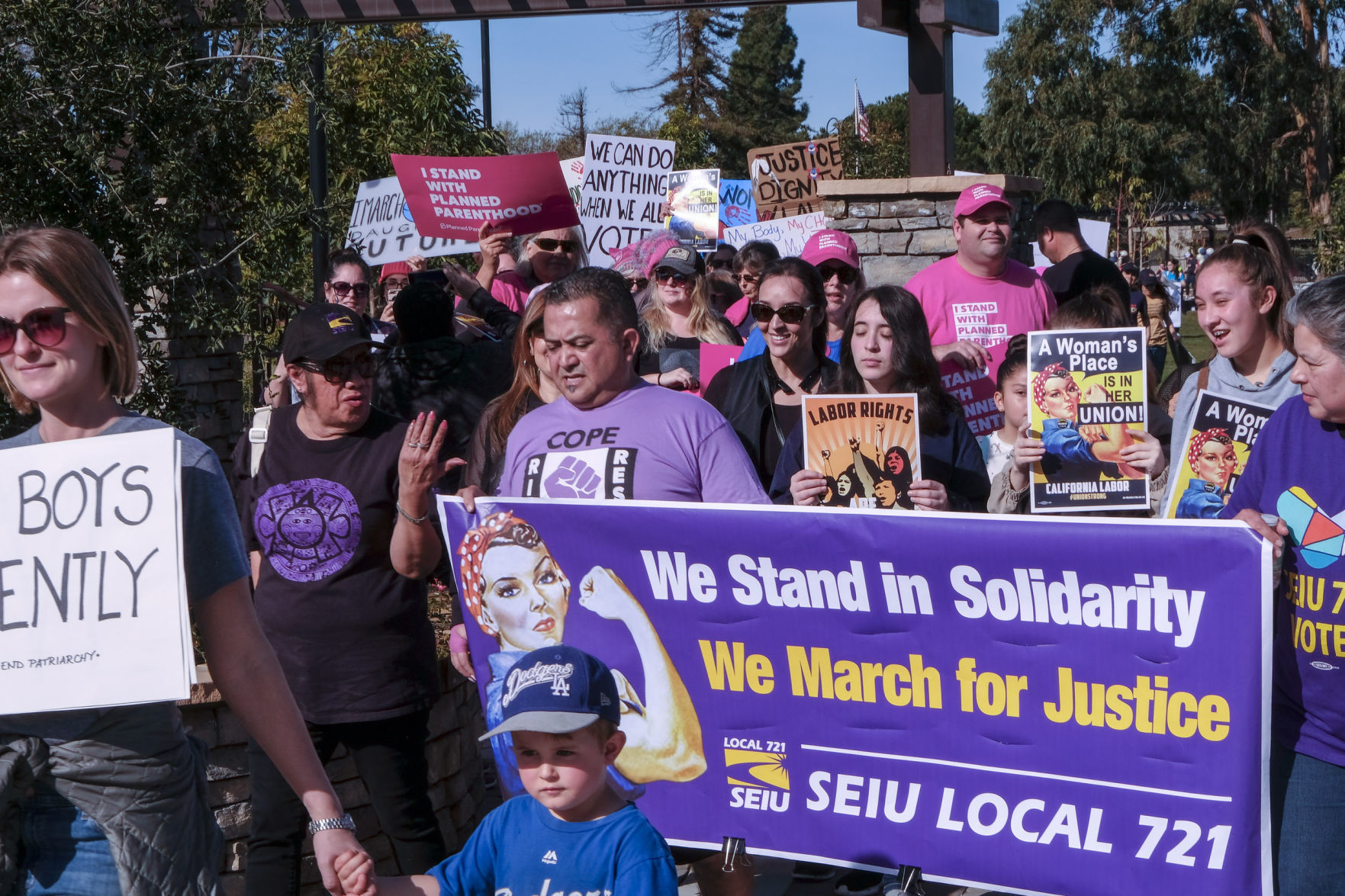 photograph relating to Women's March Printable Signs known as 1000's rally within solidarity throughout Santa Maria Valleys