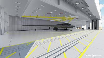 Renderings are of future B-21 Main Operating Base