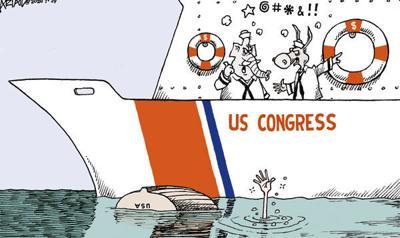 Editorial Cartoon: Sinking