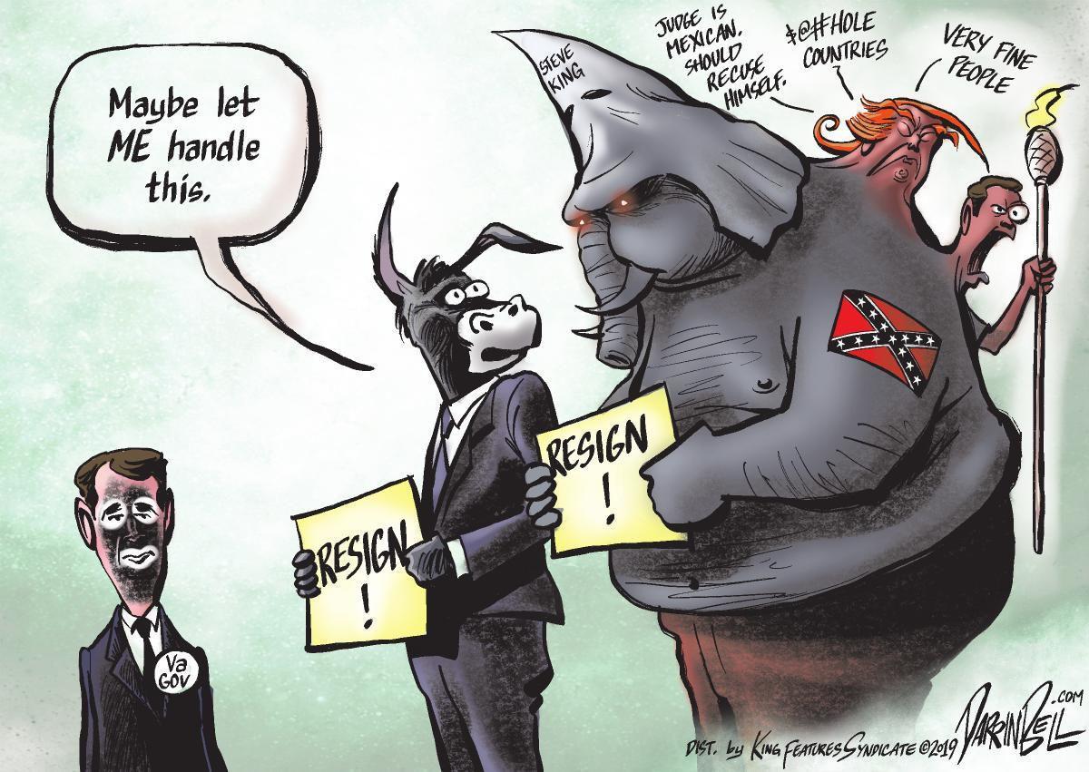 Cartoon: Handling Northam
