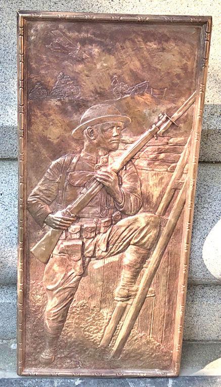 Ed Brooks Bronze Bas Relief Sculpture