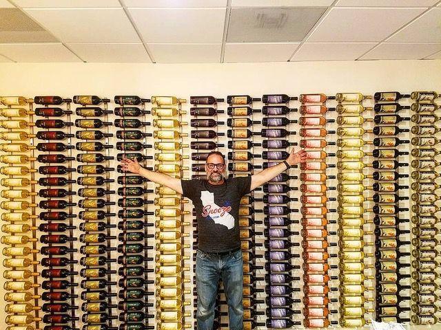 Winemaker Larry Schaffer, who owns Tercero Wines, in his new tasting room