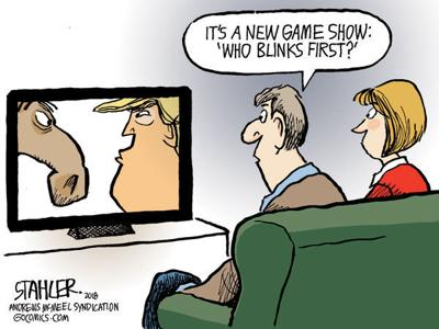 Cartoon: Who blinks first?