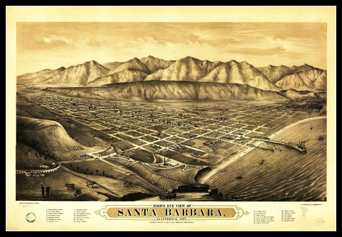 Old Santa Barbara map