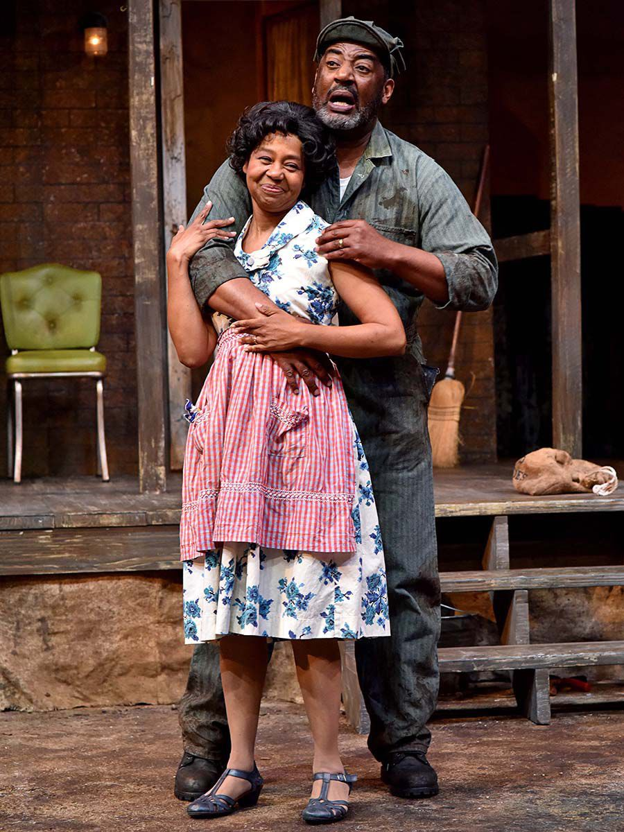 "Derrick Lee Weeden, as Troy Maxson, and Karole Foreman, as Rose, star in PCPA's production of ""Fences"""