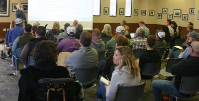 Farmers at Ag Order 4.0 meeting