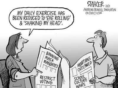Editorial Cartoon: Shaking head