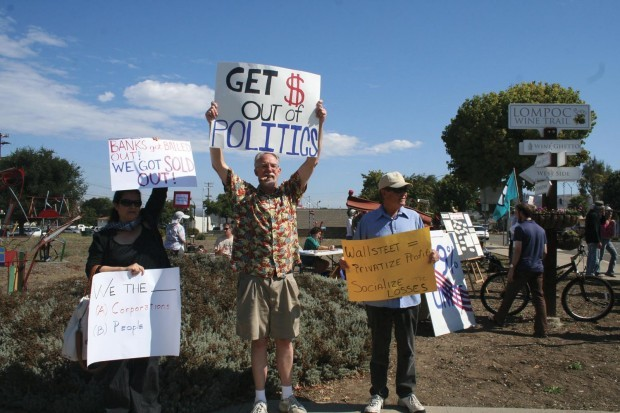 Occupy Lompoc: Activists gather Saturday
