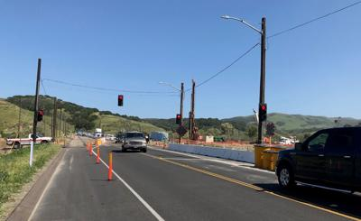 Salsipuedes Creek Bridge temporary traffic signal