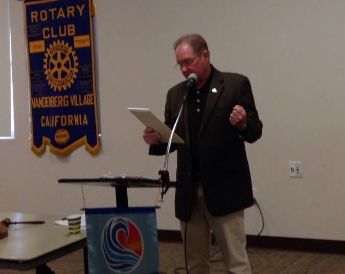 Rotary Club of Vandenberg Village hosts Lompoc Mayor Bob Lingl