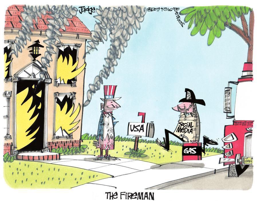 Cartoon: Gas on the fire