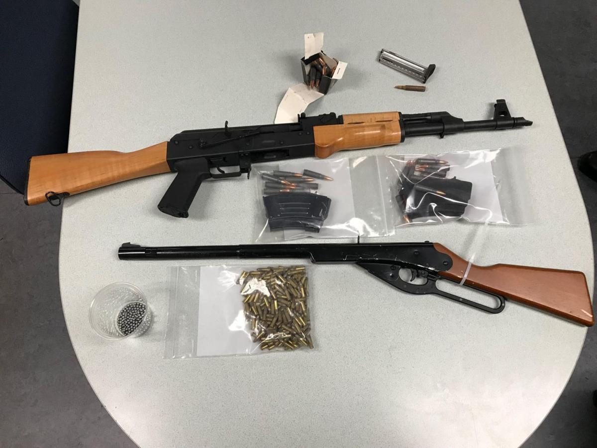 An AK-47 assault rifle, top, was among the weaponry recovered by Santa  Barbara County sheriff's deputies during the apprehension of Bertin Diaz  Pulido late ...