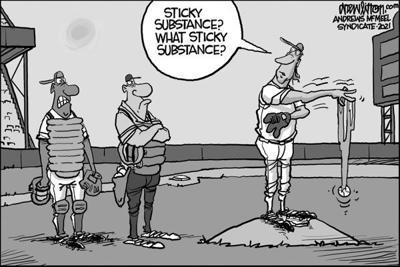 Editorial Cartoon: Sticky