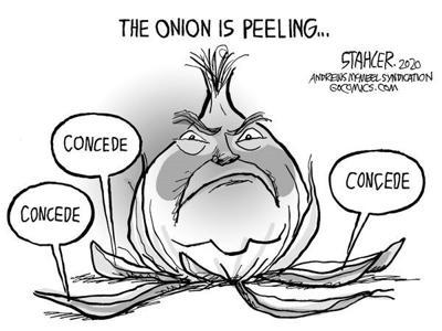 Editorial Cartoon: Peeling