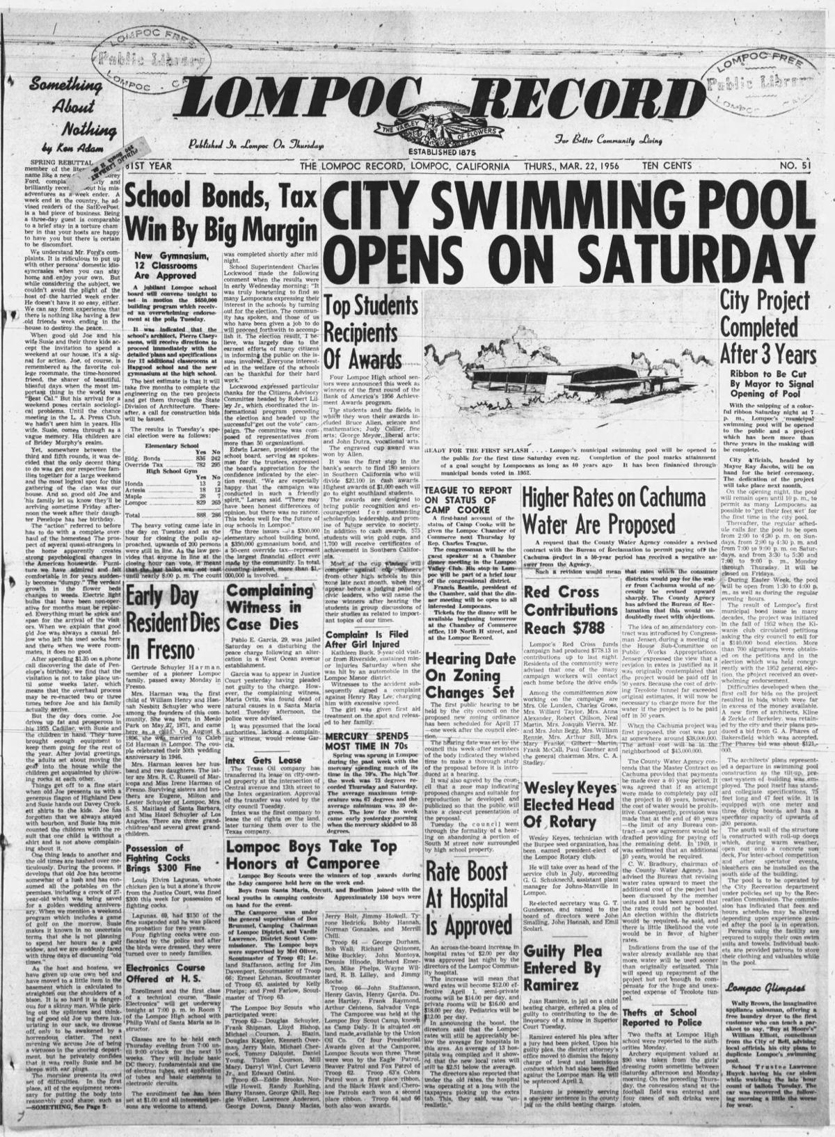 Lompoc Municpal Pool opens