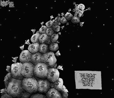 Editorial Cartoon: The Right Stuff