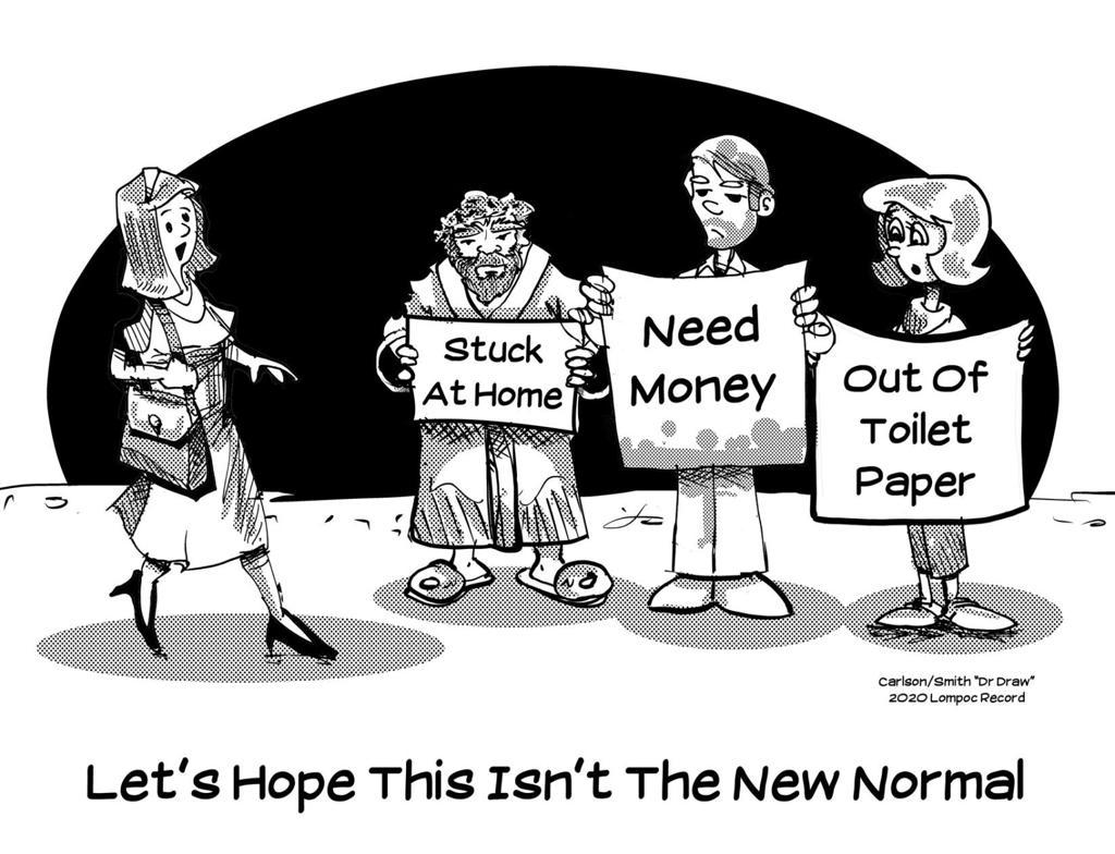 Editorial Cartoon New Normal Lompocrecord Com