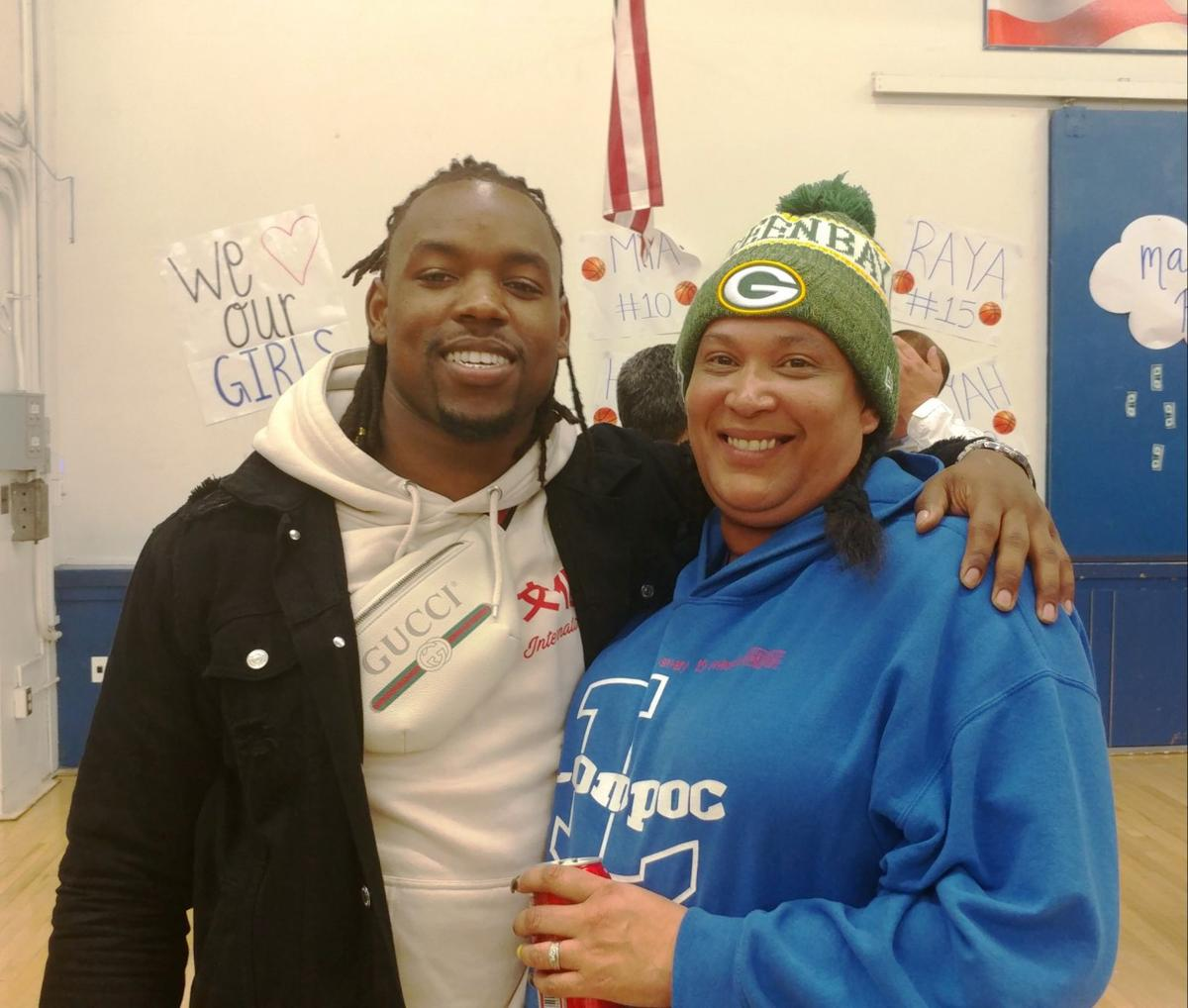 Lavon Coleman and mother