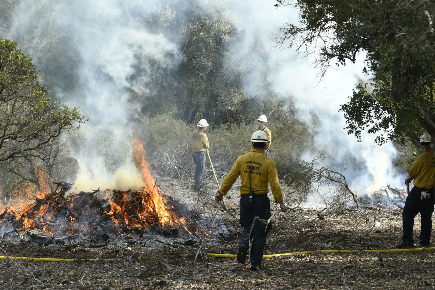 Burton Mesa Pile Burning