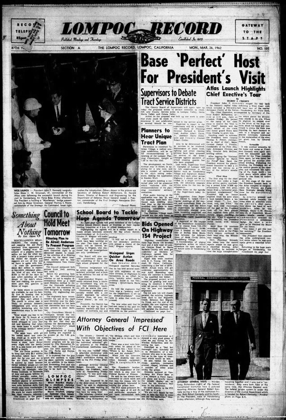 JFK at VAFB